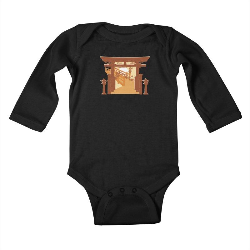The Temple Kids Baby Longsleeve Bodysuit by Kamonkey's Artist Shop