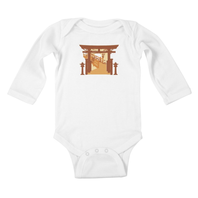 The Temple Kids Baby Longsleeve Bodysuit by Kamonkey's Artist Shop