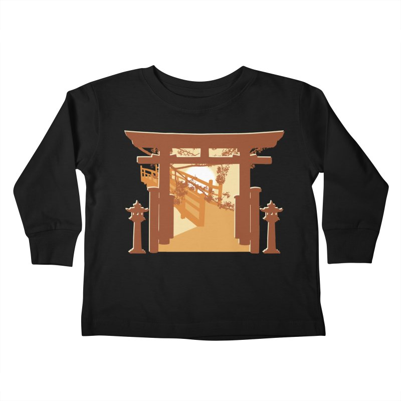 The Temple Kids Toddler Longsleeve T-Shirt by Kamonkey's Artist Shop