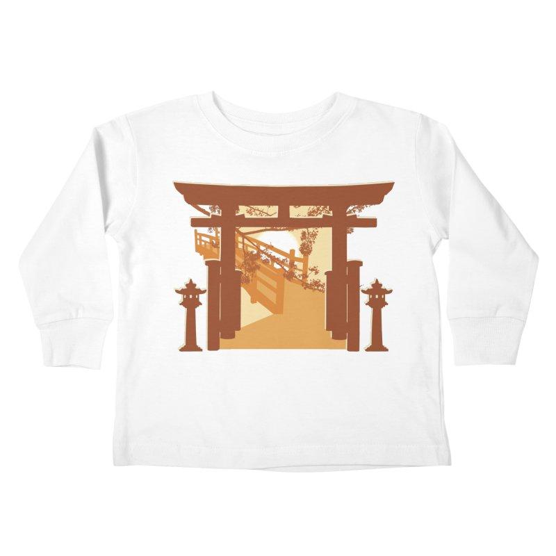 The Temple Kids Toddler Longsleeve T-Shirt by Kamonkey's Artist Shop