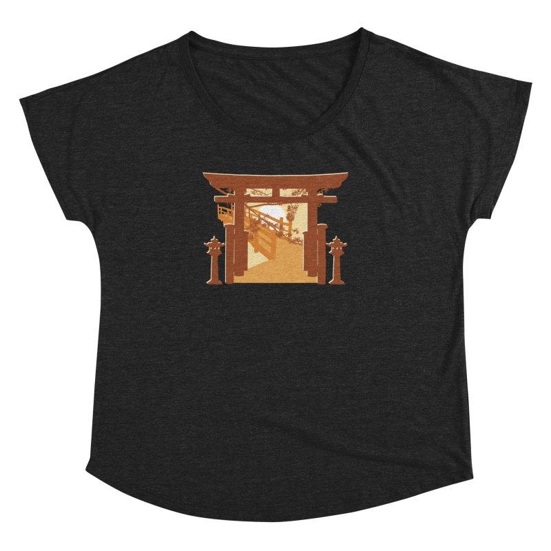 The Temple Women's Scoop Neck by Kamonkey's Artist Shop