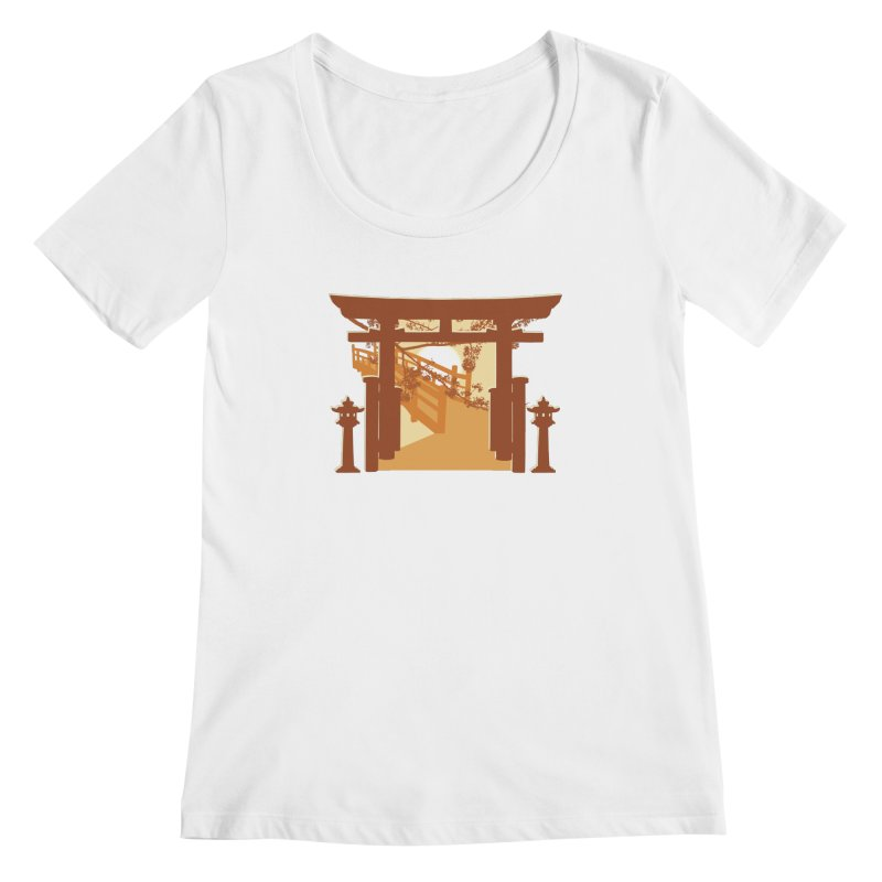 The Temple Women's Scoopneck by Kamonkey's Artist Shop