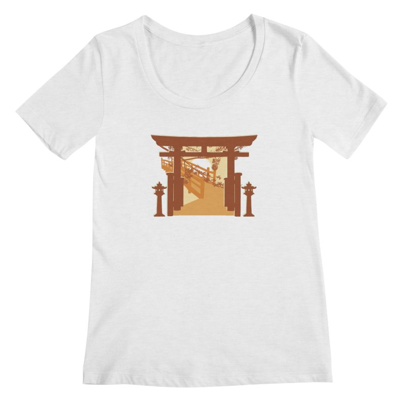 The Temple Women's Regular Scoop Neck by Kamonkey's Artist Shop