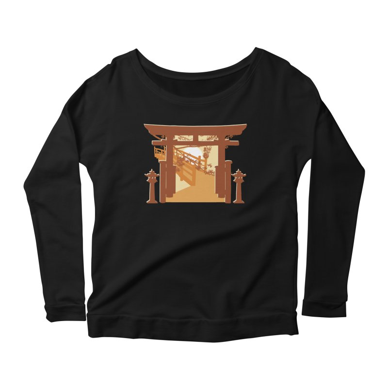 The Temple Women's Scoop Neck Longsleeve T-Shirt by Kamonkey's Artist Shop