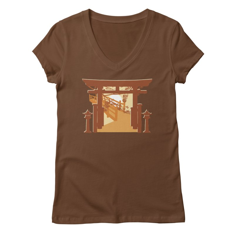 The Temple Women's Regular V-Neck by Kamonkey's Artist Shop
