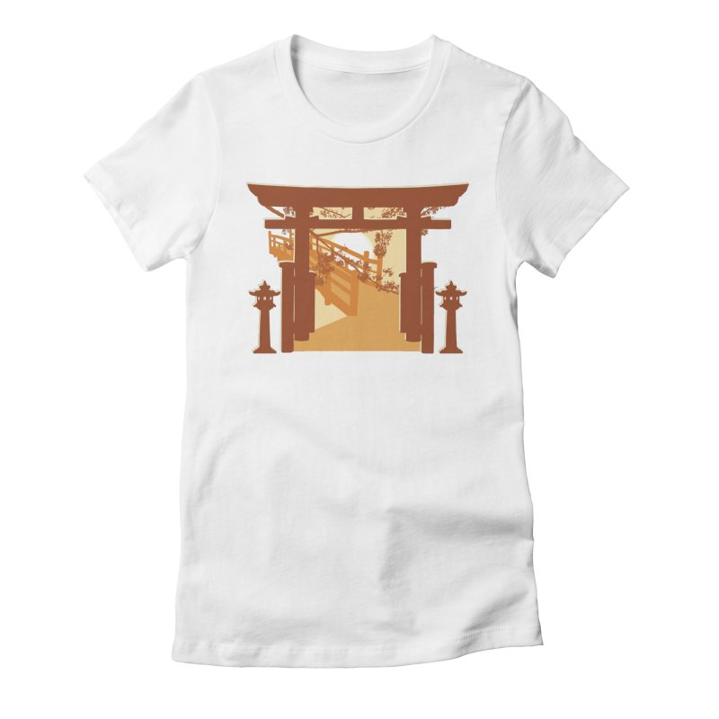 The Temple Women's Fitted T-Shirt by Kamonkey's Artist Shop