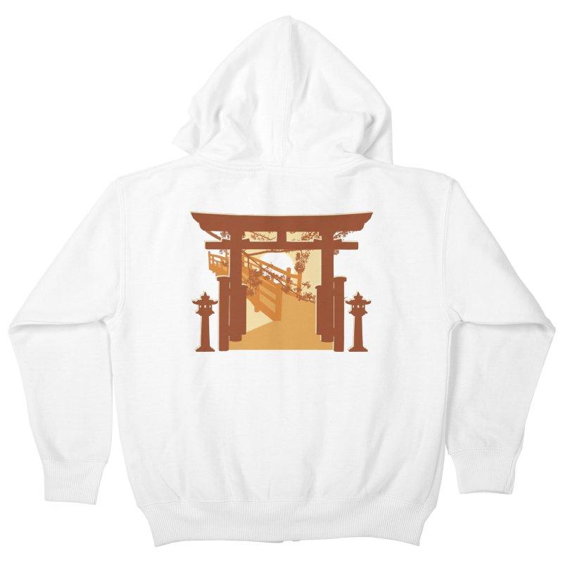 The Temple Kids Zip-Up Hoody by Kamonkey's Artist Shop
