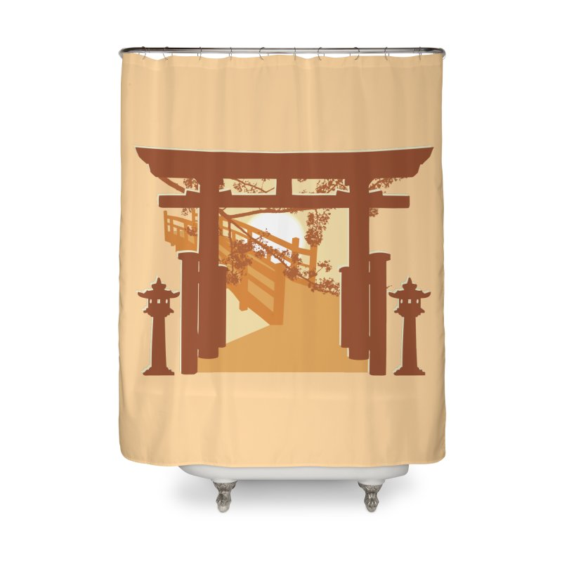 The Temple Home Shower Curtain by Kamonkey's Artist Shop