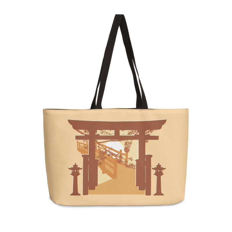 The Temple Accessories Weekender Bag Bag by Kamonkey's Artist Shop