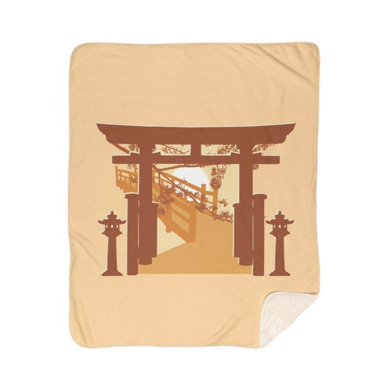 The Temple Home Sherpa Blanket Blanket by Kamonkey's Artist Shop