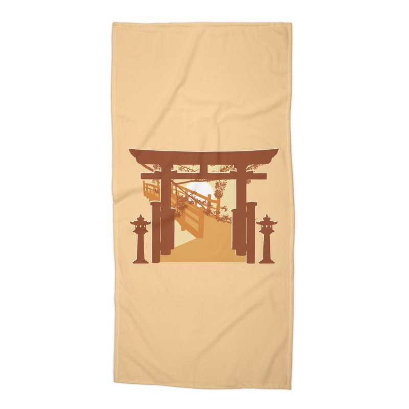 The Temple Accessories Beach Towel by Kamonkey's Artist Shop