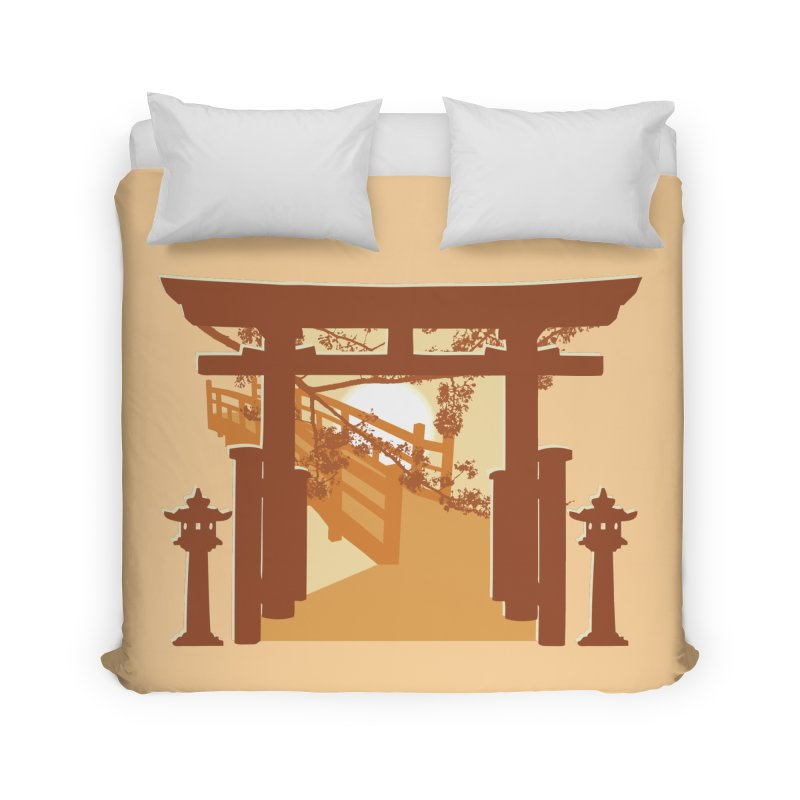 The Temple Home Duvet by Kamonkey's Artist Shop