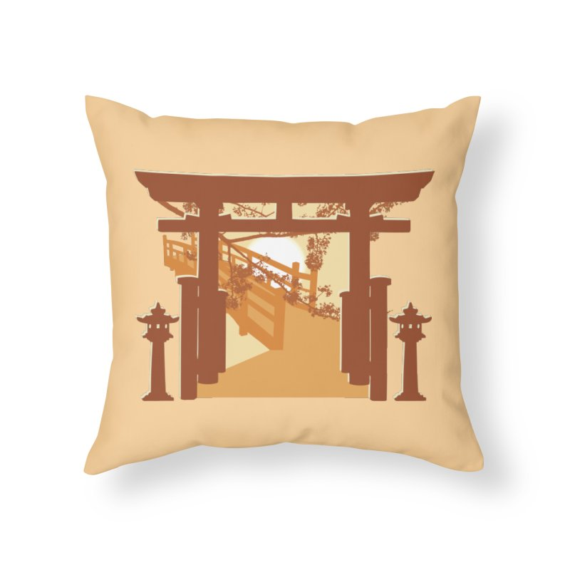 The Temple Home Throw Pillow by Kamonkey's Artist Shop