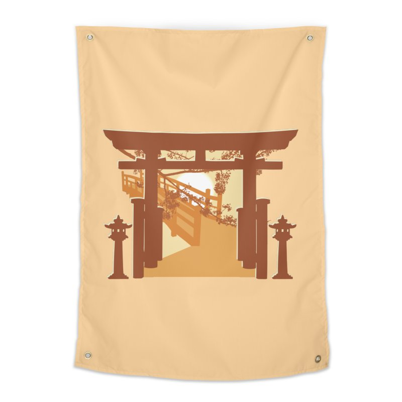 The Temple Home Tapestry by Kamonkey's Artist Shop