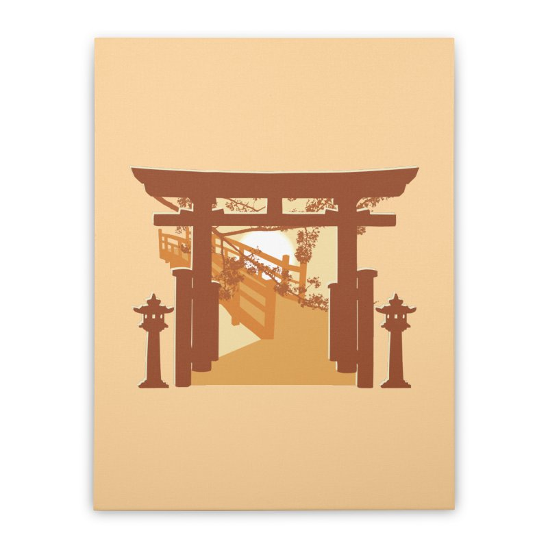 The Temple Home Stretched Canvas by Kamonkey's Artist Shop