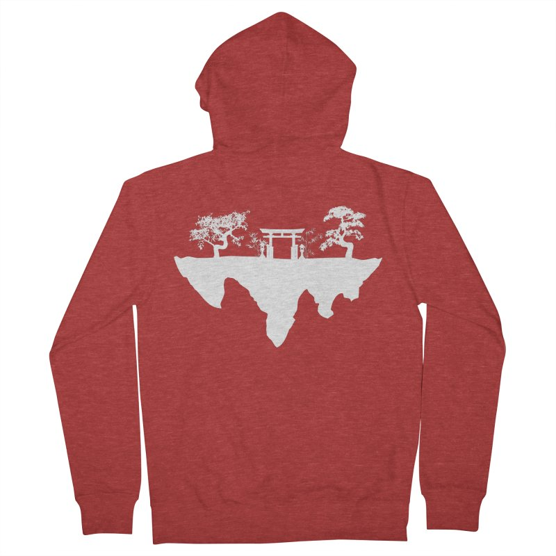 The Hovering Temple Men's French Terry Zip-Up Hoody by Kamonkey's Artist Shop