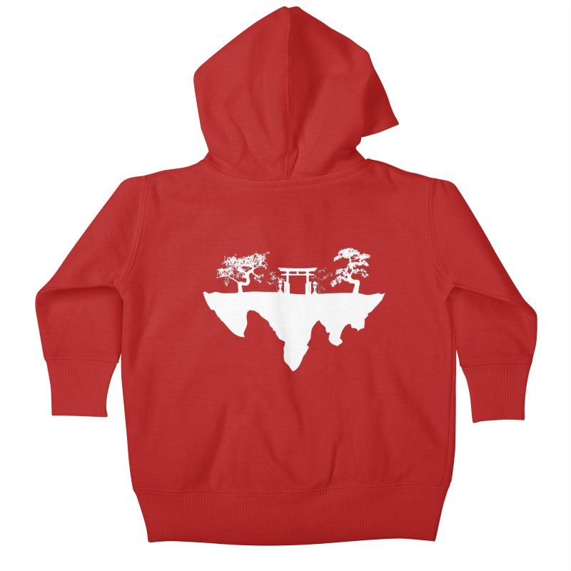 The Hovering Temple Kids Baby Zip-Up Hoody by Kamonkey's Artist Shop