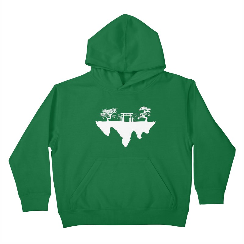 The Hovering Temple Kids Pullover Hoody by Kamonkey's Artist Shop