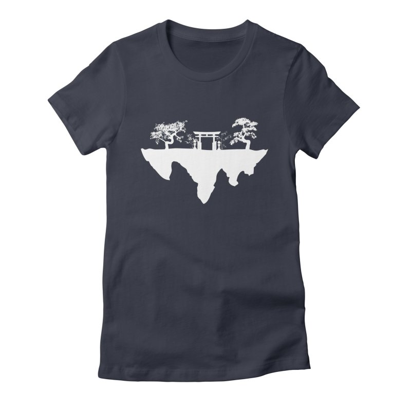 The Hovering Temple Women's Fitted T-Shirt by Kamonkey's Artist Shop