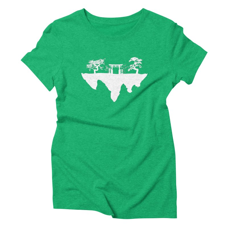 The Hovering Temple Women's Triblend T-shirt by Kamonkey's Artist Shop