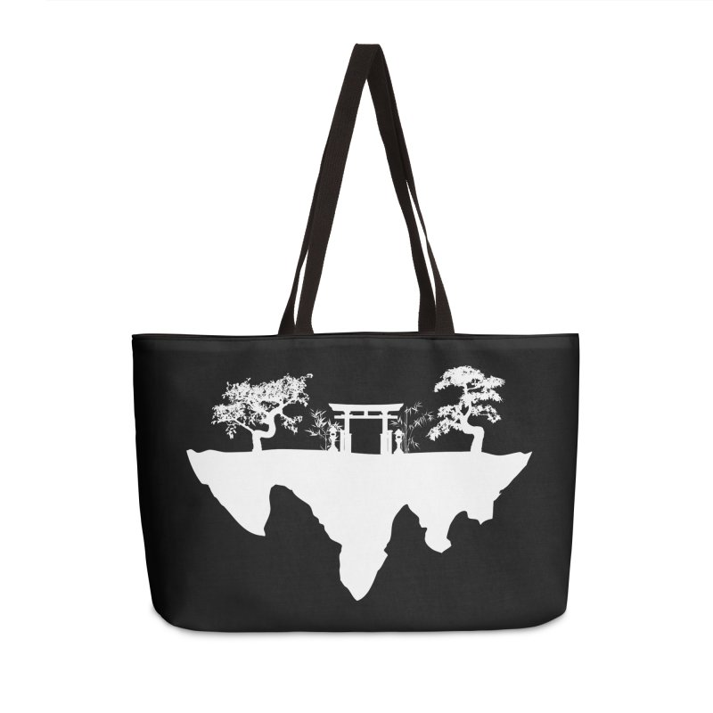 The Hovering Temple Accessories Weekender Bag Bag by Kamonkey's Artist Shop