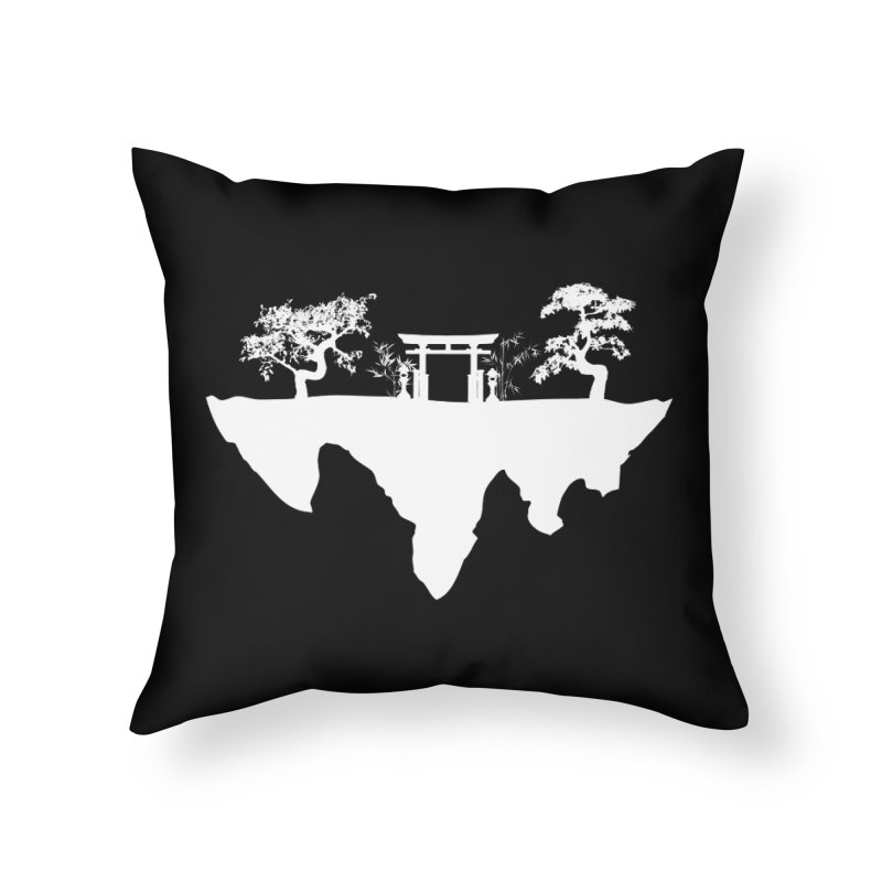 The Hovering Temple Home Throw Pillow by Kamonkey's Artist Shop