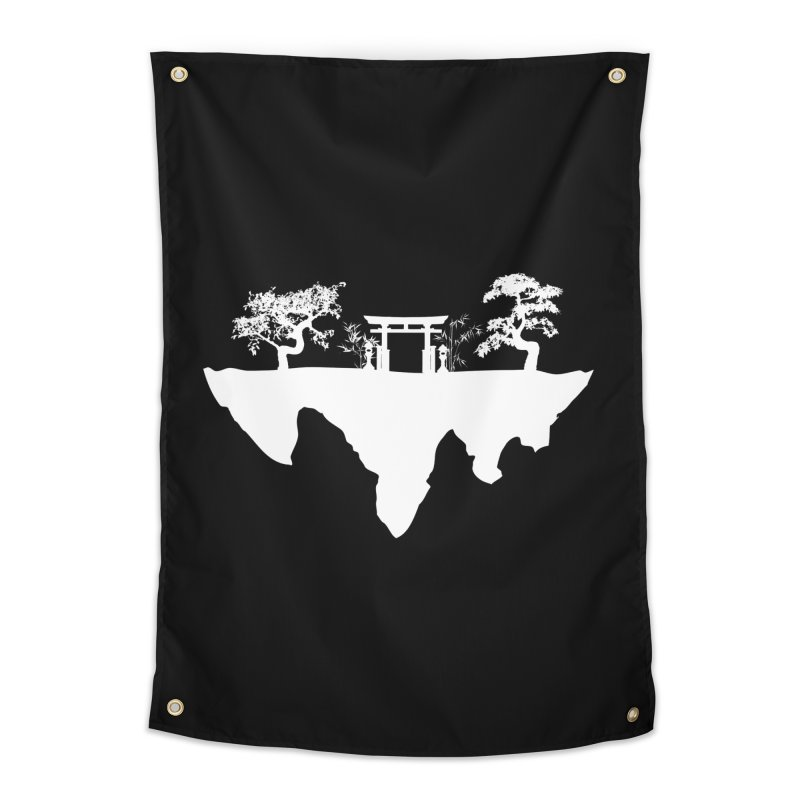 The Hovering Temple Home Tapestry by Kamonkey's Artist Shop