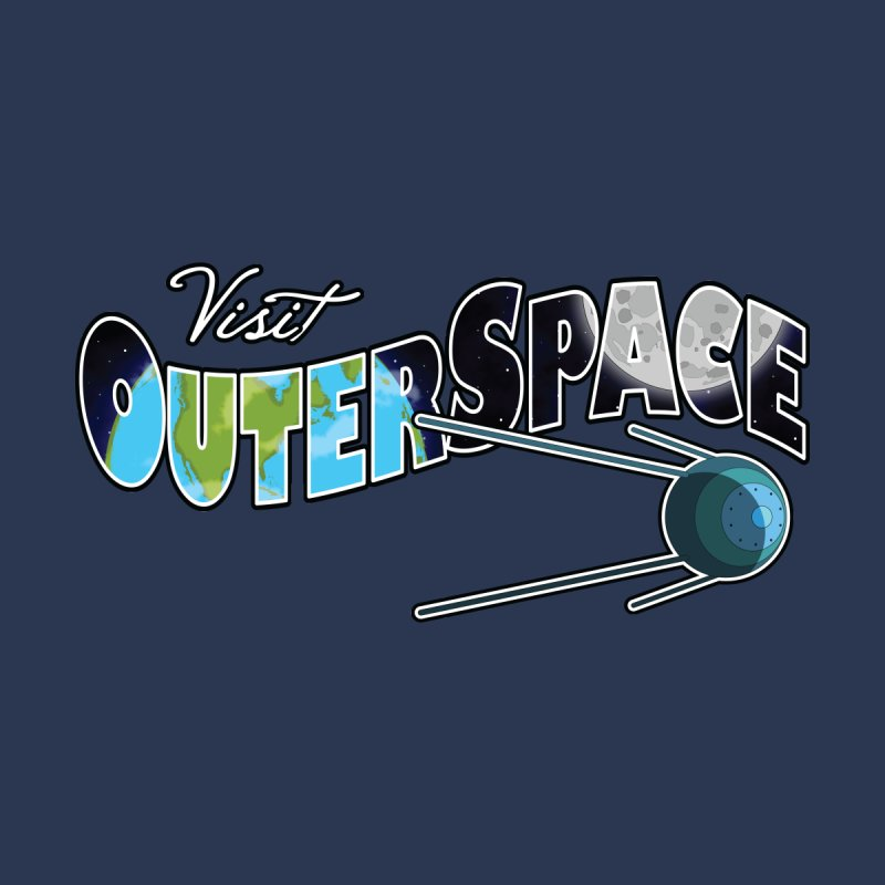 Visit Outer Space Women's Sweatshirt by Kamonkey's Artist Shop