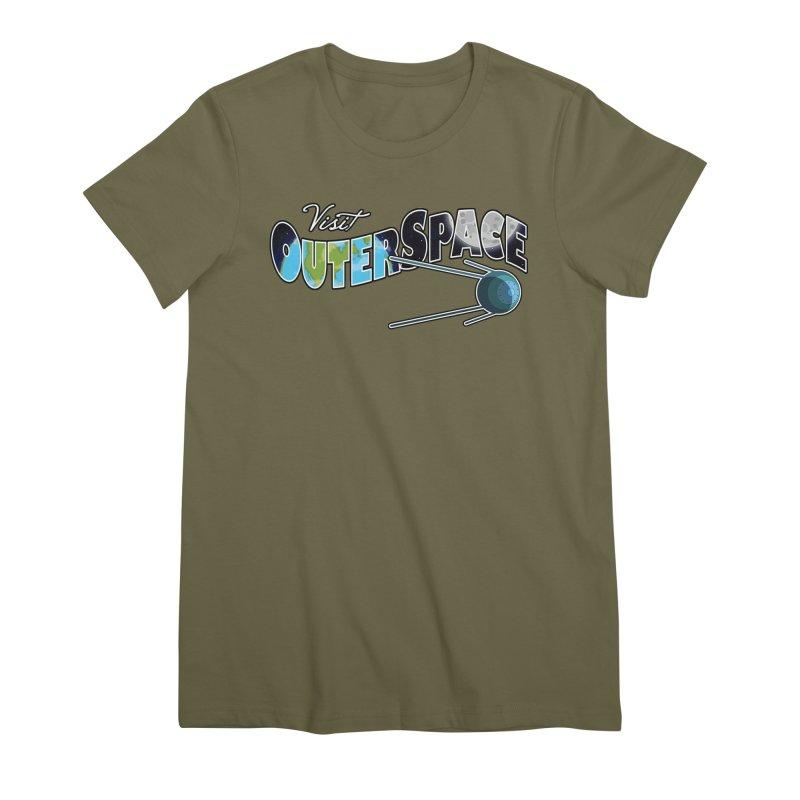 Visit Outer Space Women's Premium T-Shirt by Kamonkey's Artist Shop