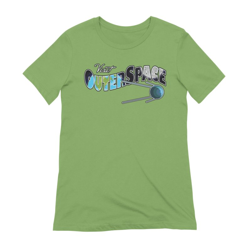 Visit Outer Space Women's Extra Soft T-Shirt by Kamonkey's Artist Shop