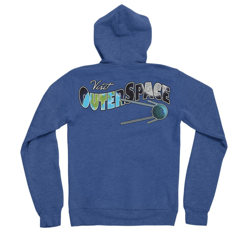 Visit Outer Space Men's Sponge Fleece Zip-Up Hoody by Kamonkey's Artist Shop