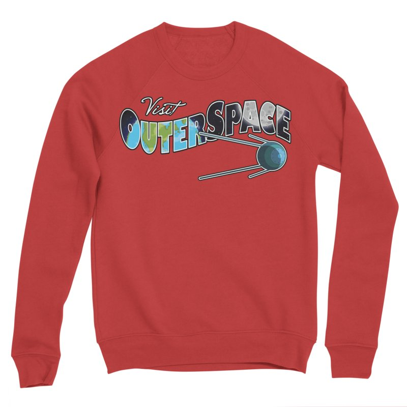 Visit Outer Space Men's Sponge Fleece Sweatshirt by Kamonkey's Artist Shop
