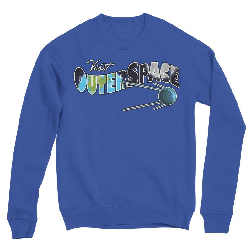 Visit Outer Space Men's Sponge Fleece Sweatshirt by Kamonkey's Artist Shop