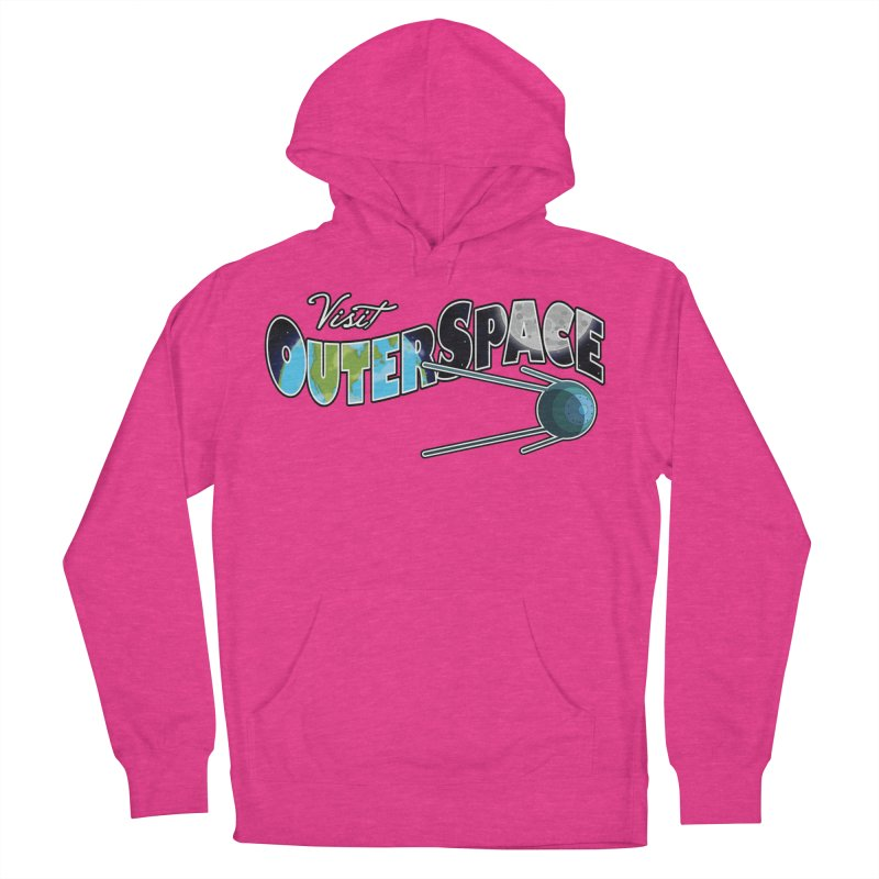 Visit Outer Space Women's French Terry Pullover Hoody by Kamonkey's Artist Shop