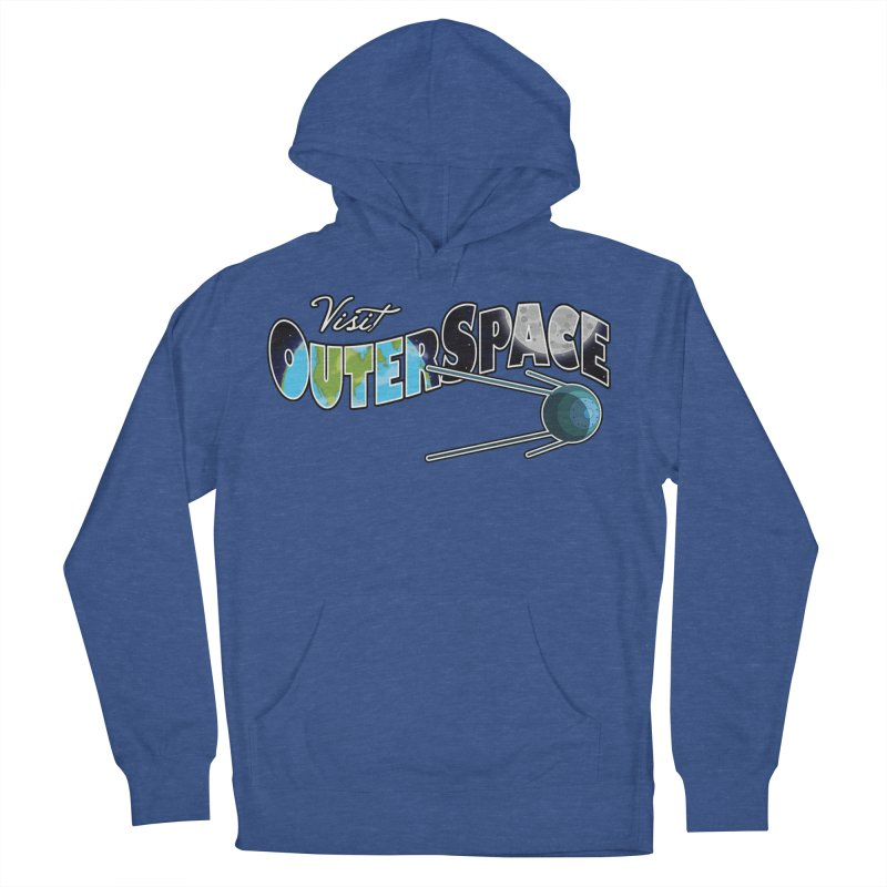 Visit Outer Space Men's French Terry Pullover Hoody by Kamonkey's Artist Shop