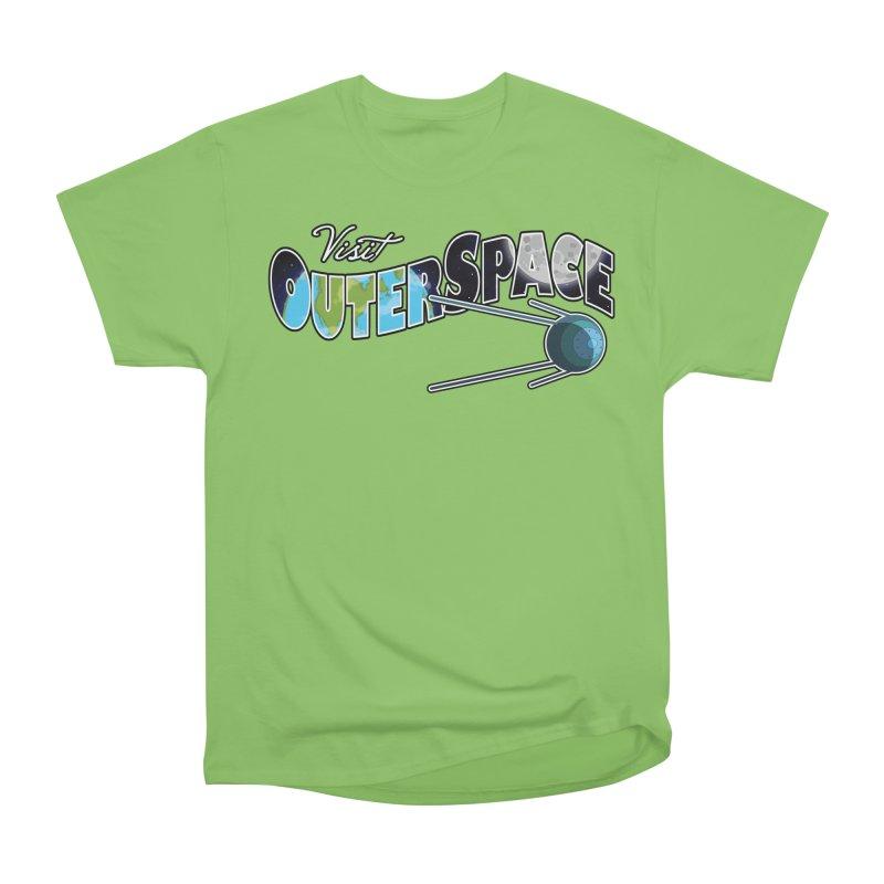 Visit Outer Space Women's Heavyweight Unisex T-Shirt by Kamonkey's Artist Shop