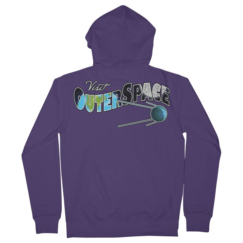 Visit Outer Space Women's French Terry Zip-Up Hoody by Kamonkey's Artist Shop