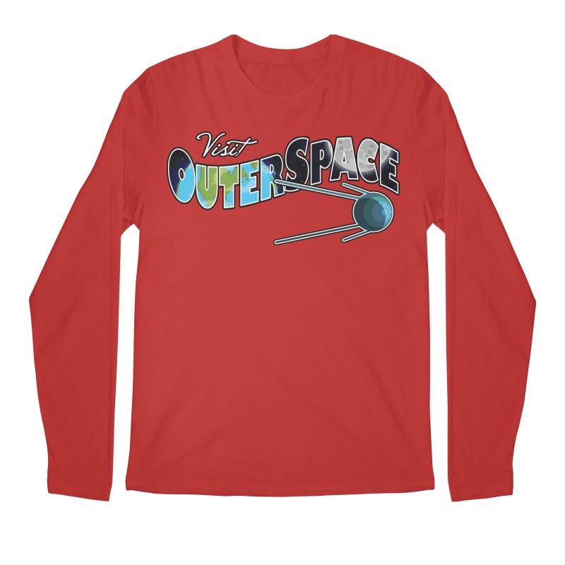 Visit Outer Space Men's Regular Longsleeve T-Shirt by Kamonkey's Artist Shop