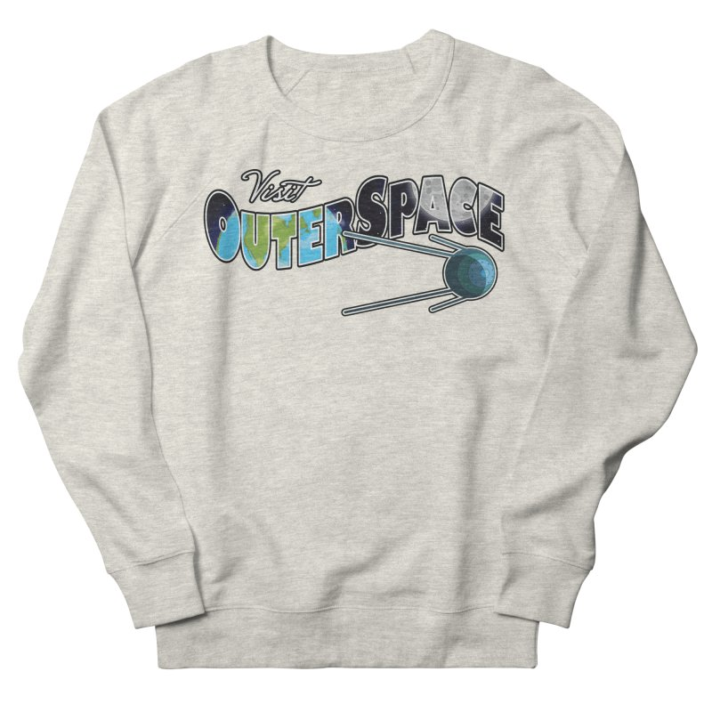 Visit Outer Space Men's French Terry Sweatshirt by Kamonkey's Artist Shop