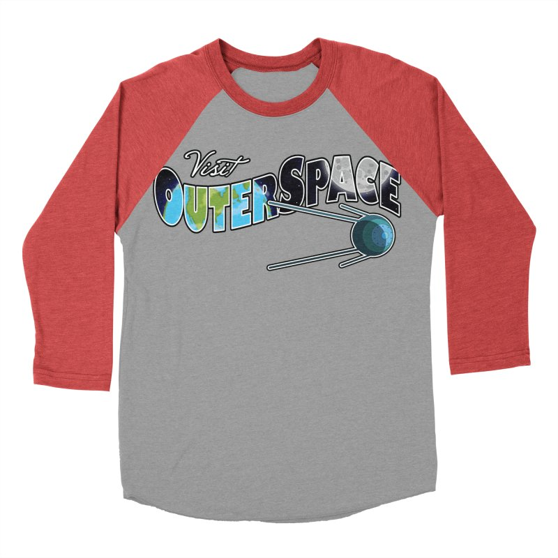 Visit Outer Space Women's Baseball Triblend Longsleeve T-Shirt by Kamonkey's Artist Shop