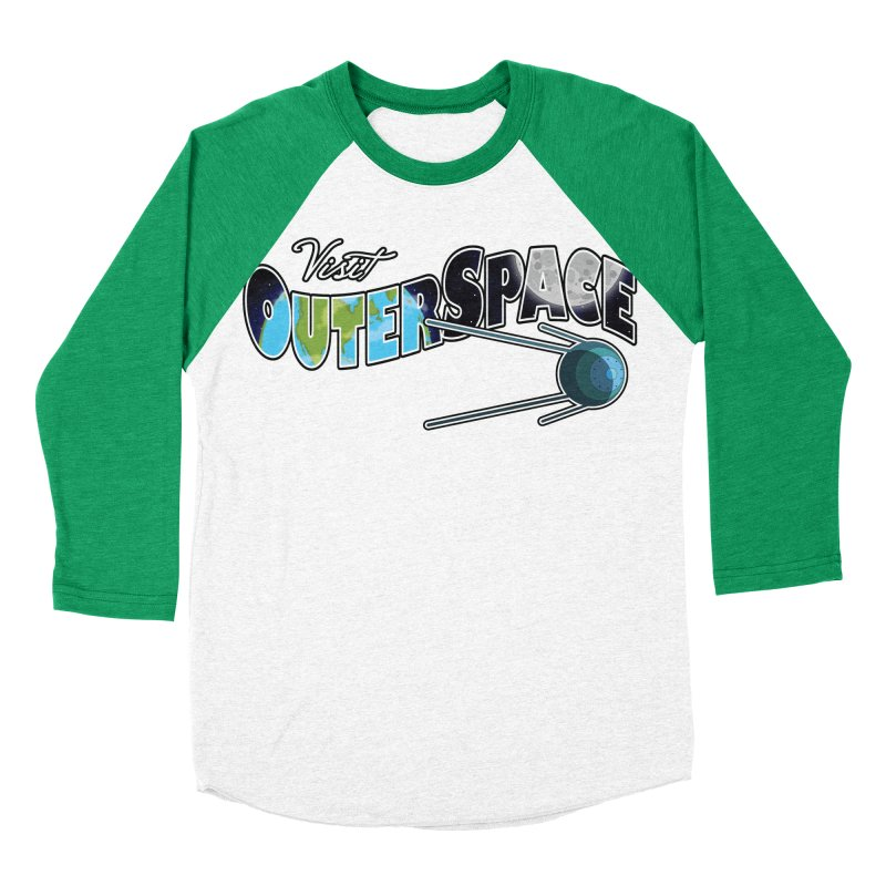 Visit Outer Space Men's Baseball Triblend Longsleeve T-Shirt by Kamonkey's Artist Shop