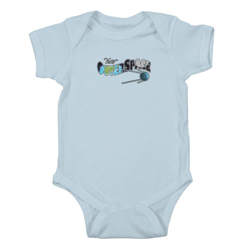Visit Outer Space Kids Baby Bodysuit by Kamonkey's Artist Shop