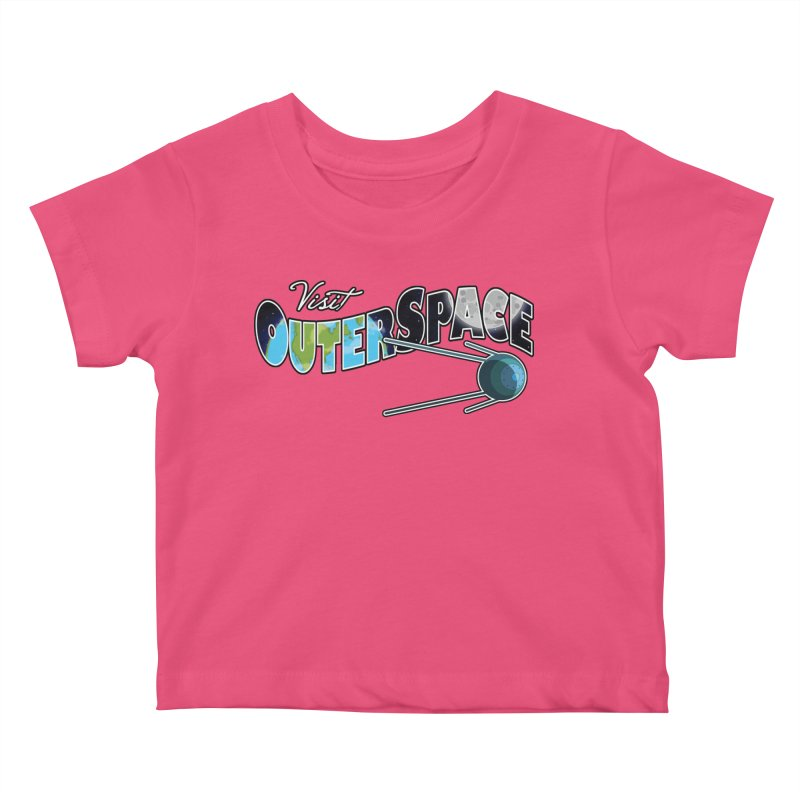 Visit Outer Space Kids Baby T-Shirt by Kamonkey's Artist Shop