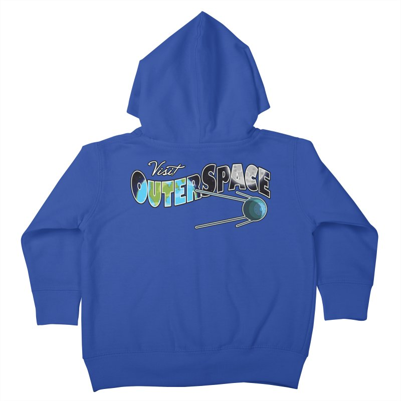 Visit Outer Space Kids Toddler Zip-Up Hoody by Kamonkey's Artist Shop