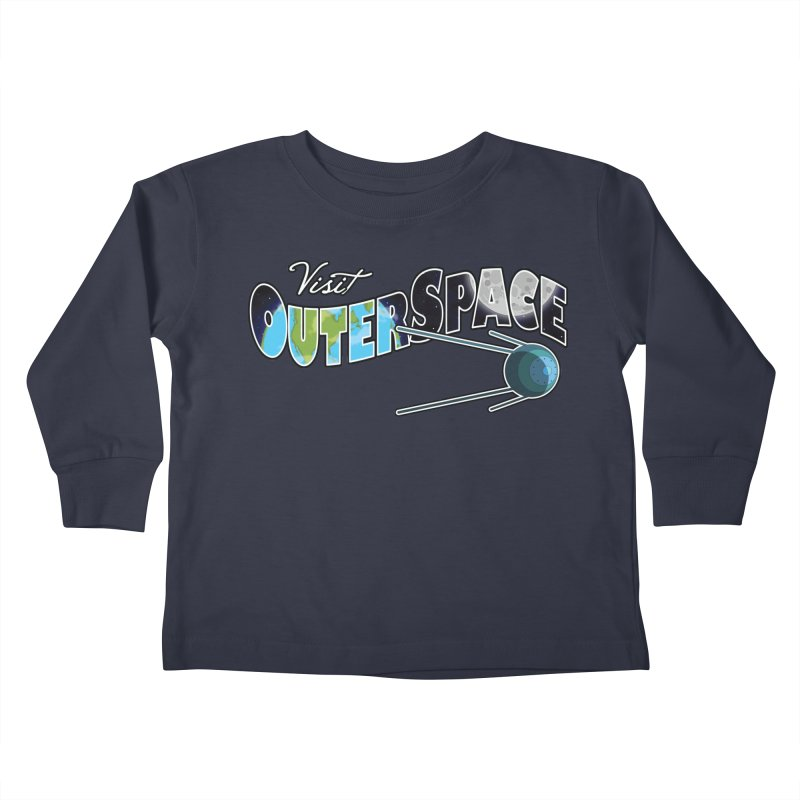 Visit Outer Space Kids Toddler Longsleeve T-Shirt by Kamonkey's Artist Shop