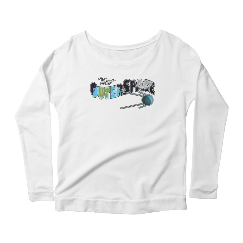 Visit Outer Space Women's Scoop Neck Longsleeve T-Shirt by Kamonkey's Artist Shop