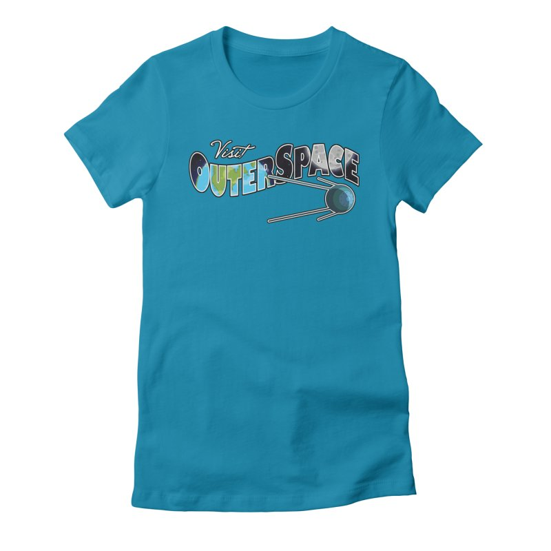 Visit Outer Space Women's Fitted T-Shirt by Kamonkey's Artist Shop