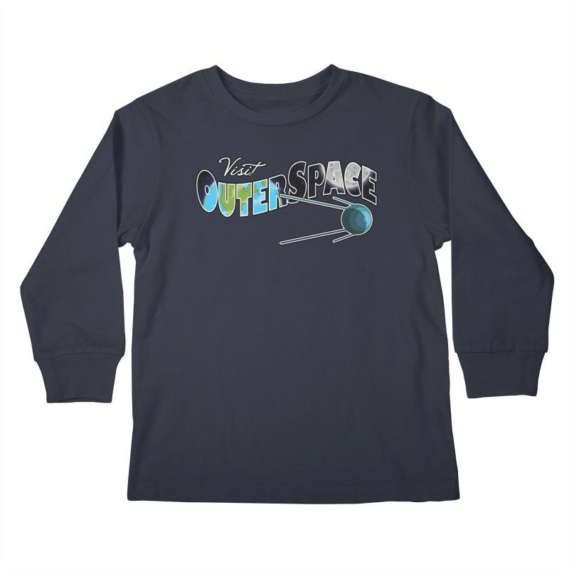 Visit Outer Space Kids Longsleeve T-Shirt by Kamonkey's Artist Shop