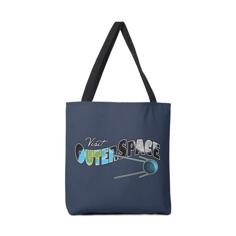 Visit Outer Space Accessories Tote Bag Bag by Kamonkey's Artist Shop