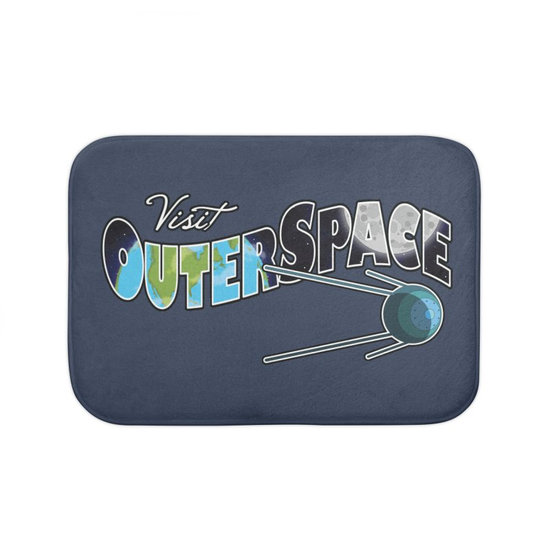 Visit Outer Space Home Bath Mat by Kamonkey's Artist Shop
